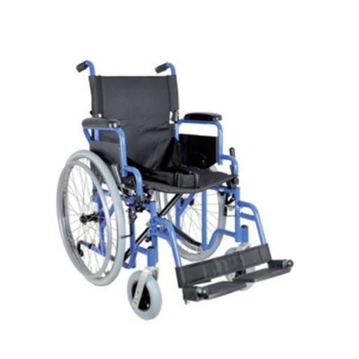 Scaun cu rotile clasic din aluminiu